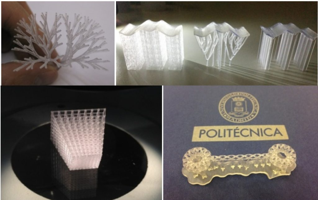 Examples of complex geometries attainable by means of additive manufacturing technologies.