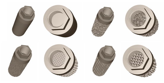 Biomimetic dental implants with porous structure for improved integration.
